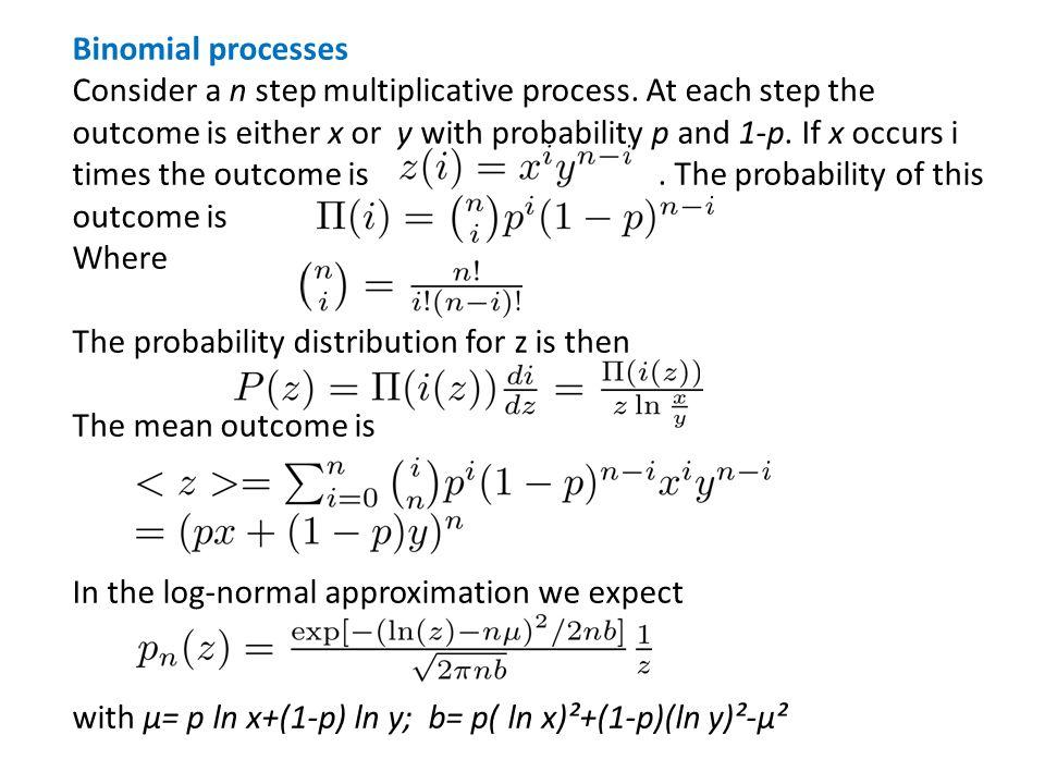 Binomial processes