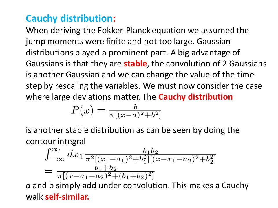 Cauchy distribution: