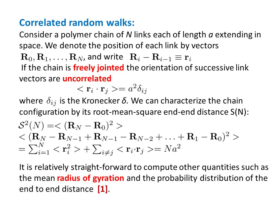 Correlated random walks: