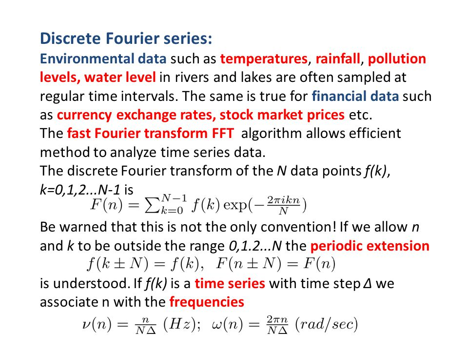 Discrete Fourier series: