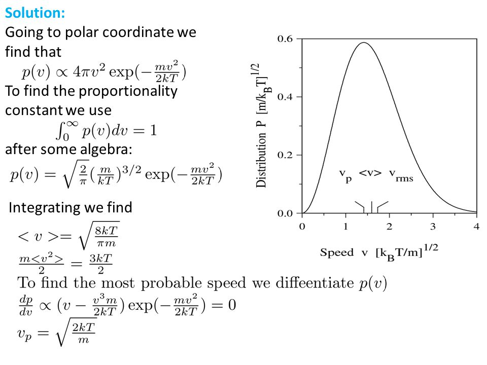 Solution: Going to polar coordinate we find that. To find the proportionality. constant we use. after some algebra:
