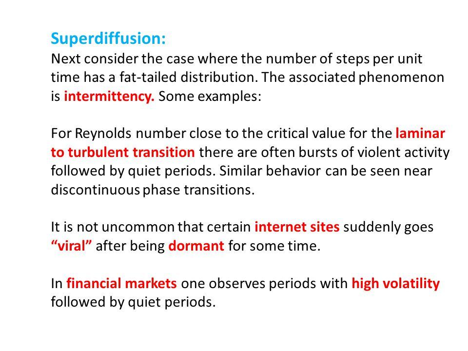 Superdiffusion: