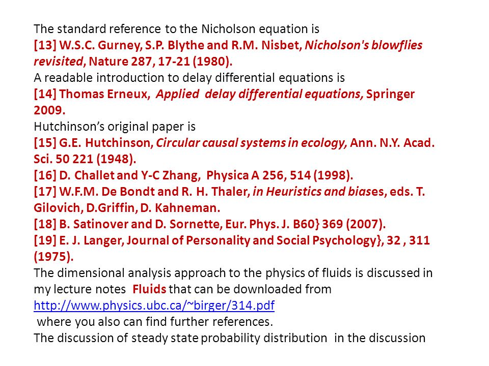 The standard reference to the Nicholson equation is