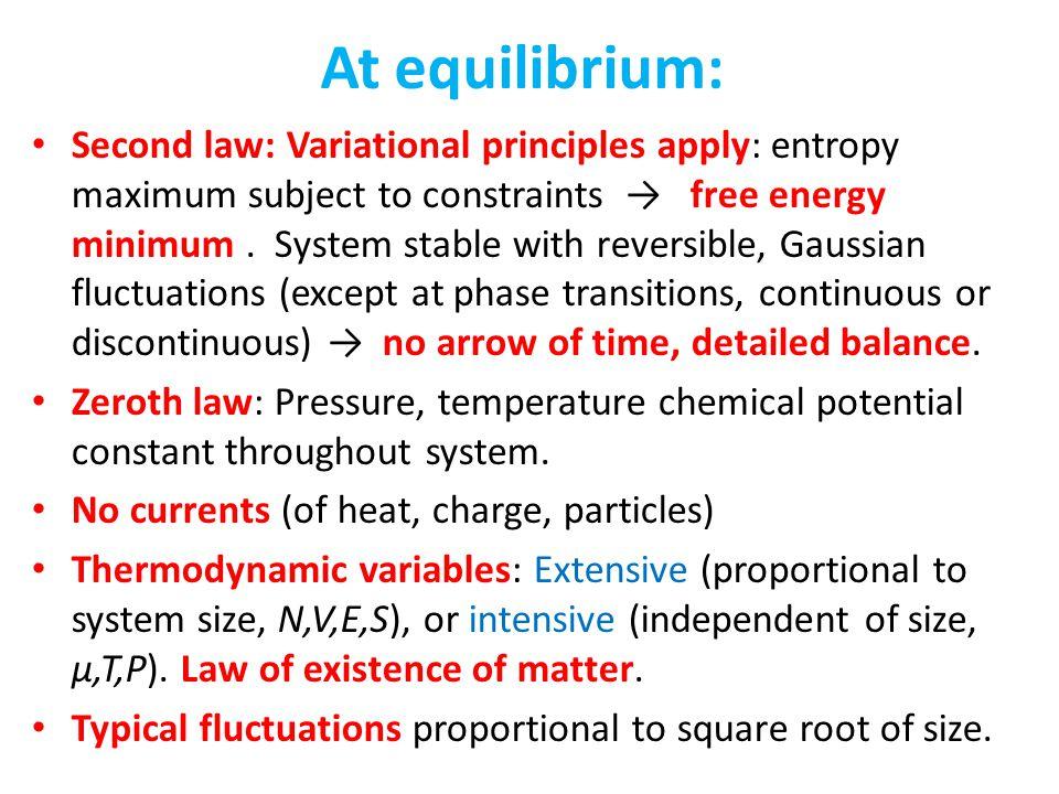 At equilibrium: