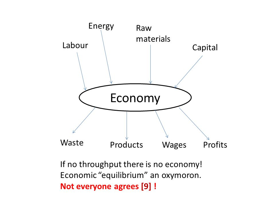 Economy Energy Raw materials Labour Capital Waste Products Wages