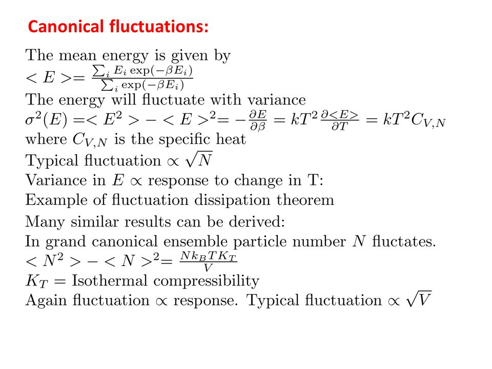 Canonical fluctuations: