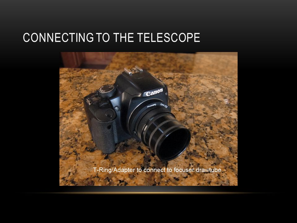 Connecting to the telescope