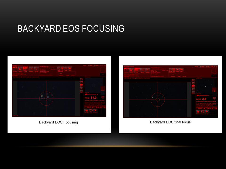 Backyard EOS focusing