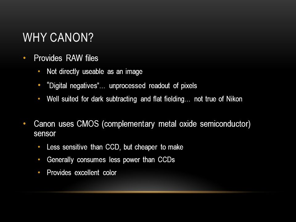 Why Canon Provides RAW files