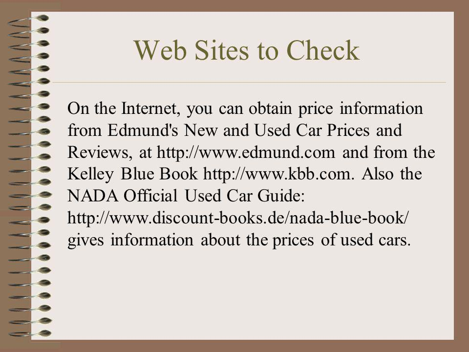 Web Sites to Check