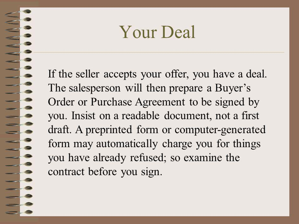 Your Deal
