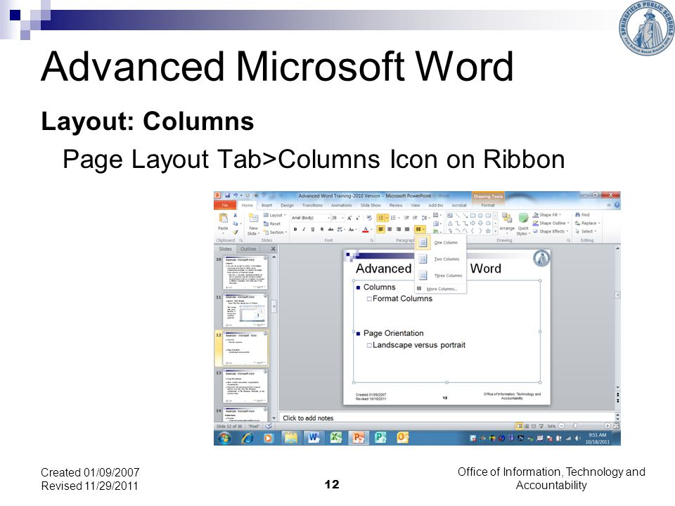 Advanced Microsoft Word