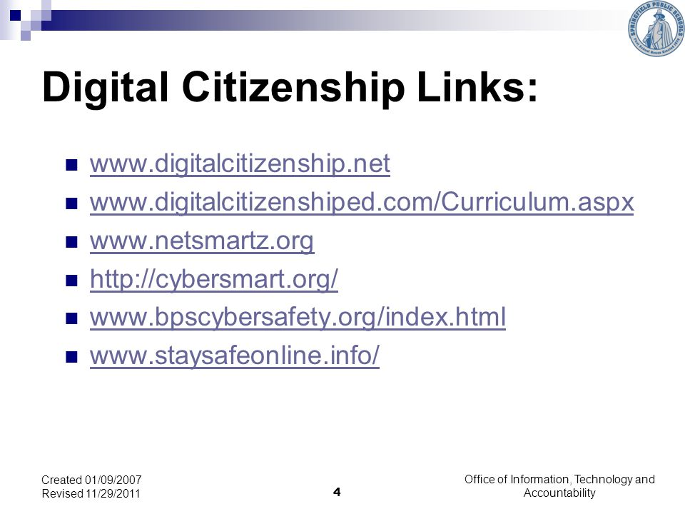 Digital Citizenship Links: