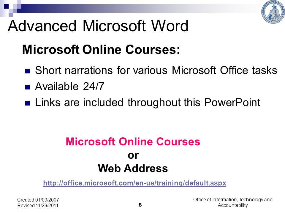 Microsoft Online Courses: