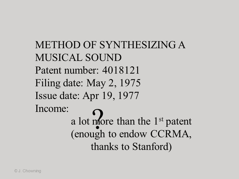 METHOD OF SYNTHESIZING A MUSICAL SOUND
