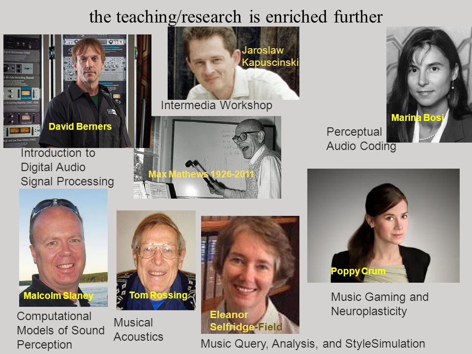 the teaching/research is enriched further (and still) by