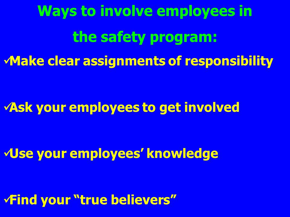 how to make responsibility and have it laminated for employees