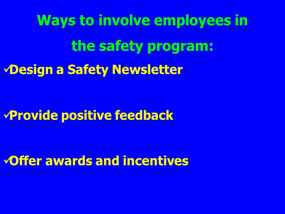 Ways to involve employees in
