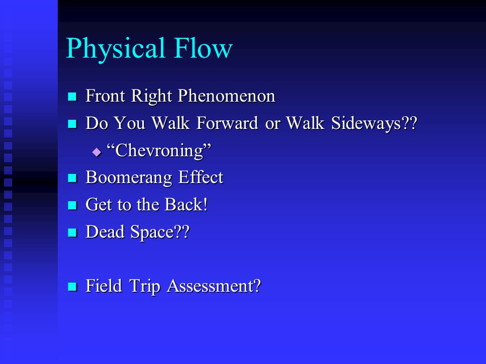 Physical Flow Front Right Phenomenon