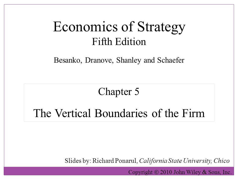 vertical boundaries Activities are likely to be found inside the boundaries of coun- terparts with which  the firm cooperates (richardson 1972) as a consequence, vertical cooperation.