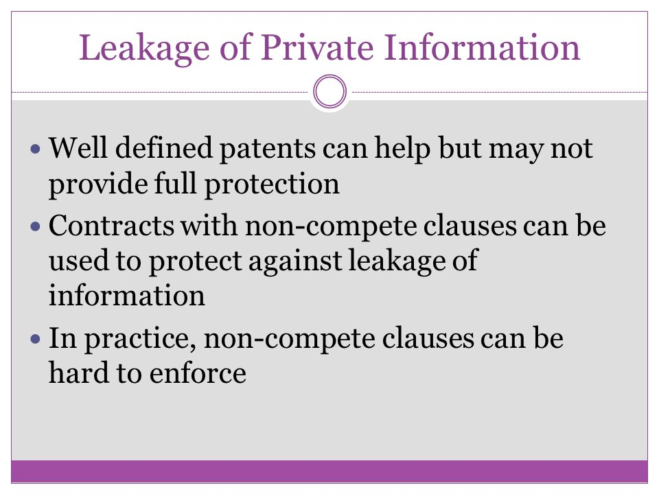 Leakage of Private Information