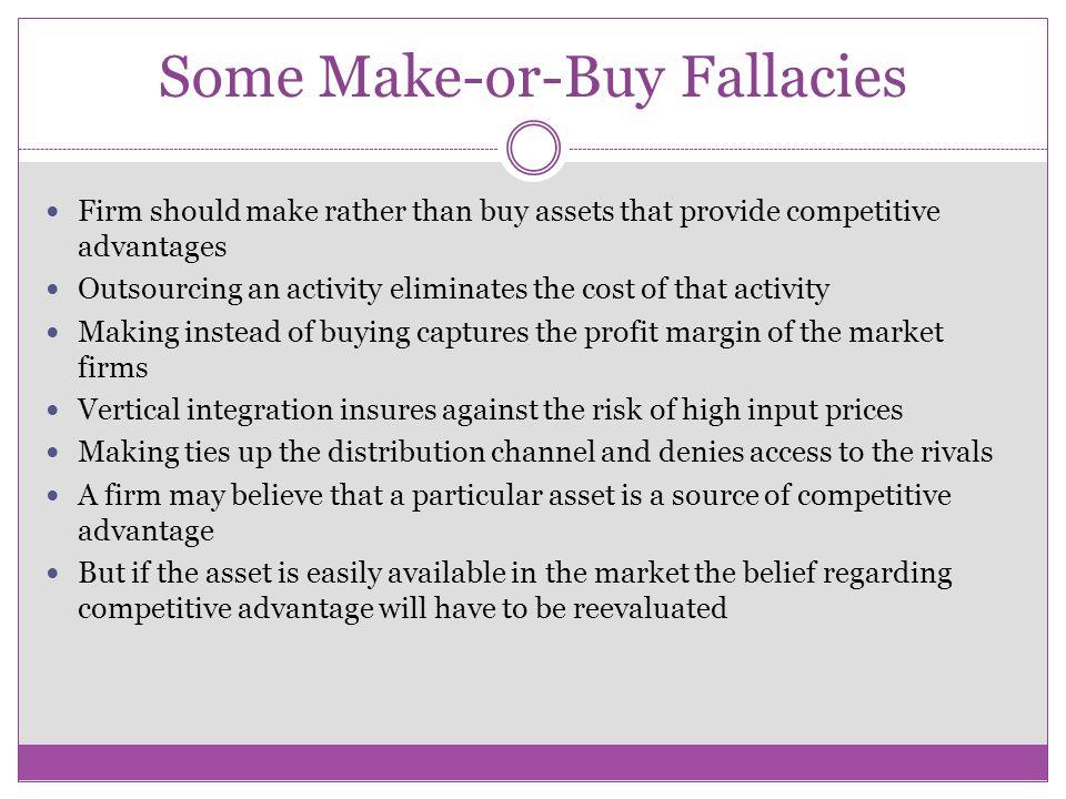Some Make-or-Buy Fallacies