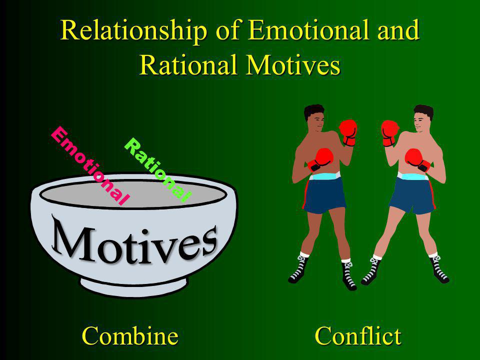 Relationship of Emotional and Rational Motives