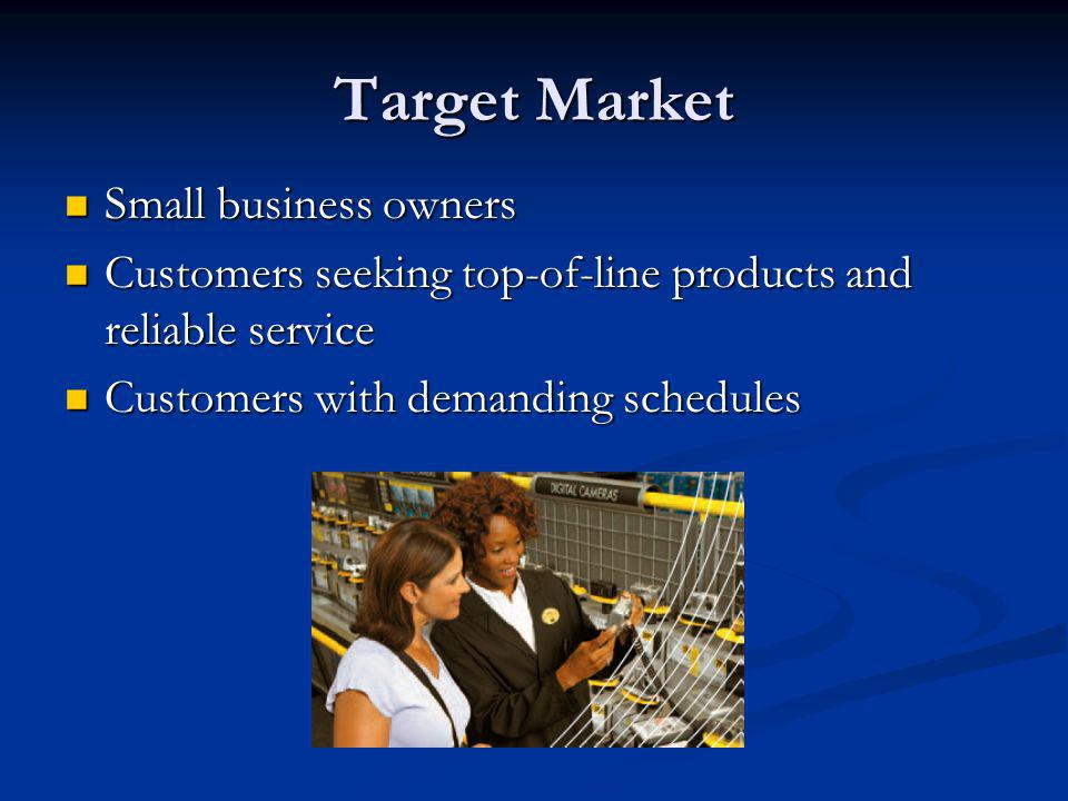Target Market Small business owners