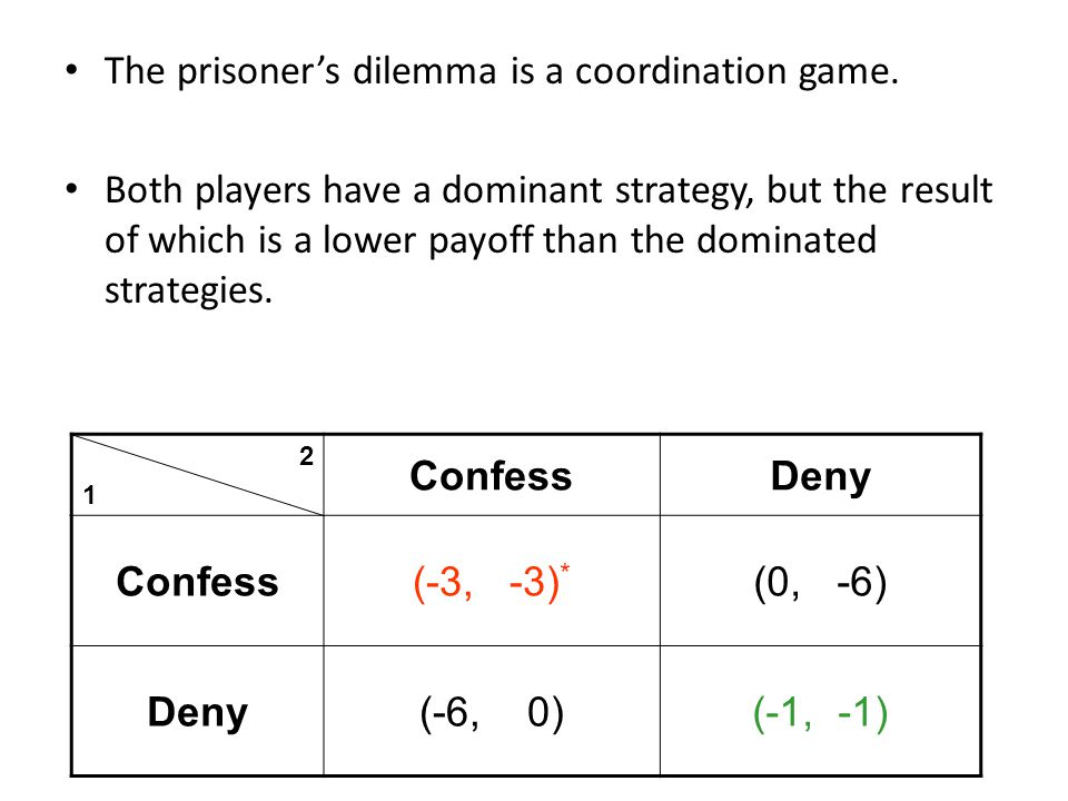 The prisoner's dilemma is a coordination game.
