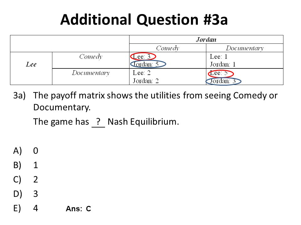 Additional Question #3a
