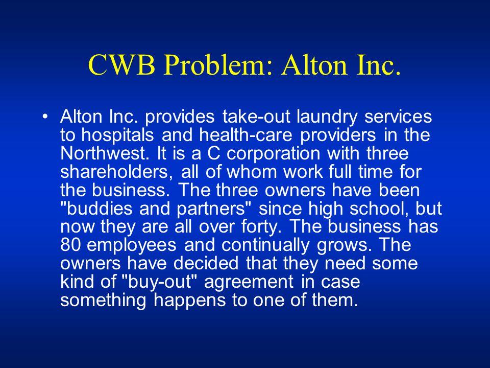 CWB Problem: Alton Inc.
