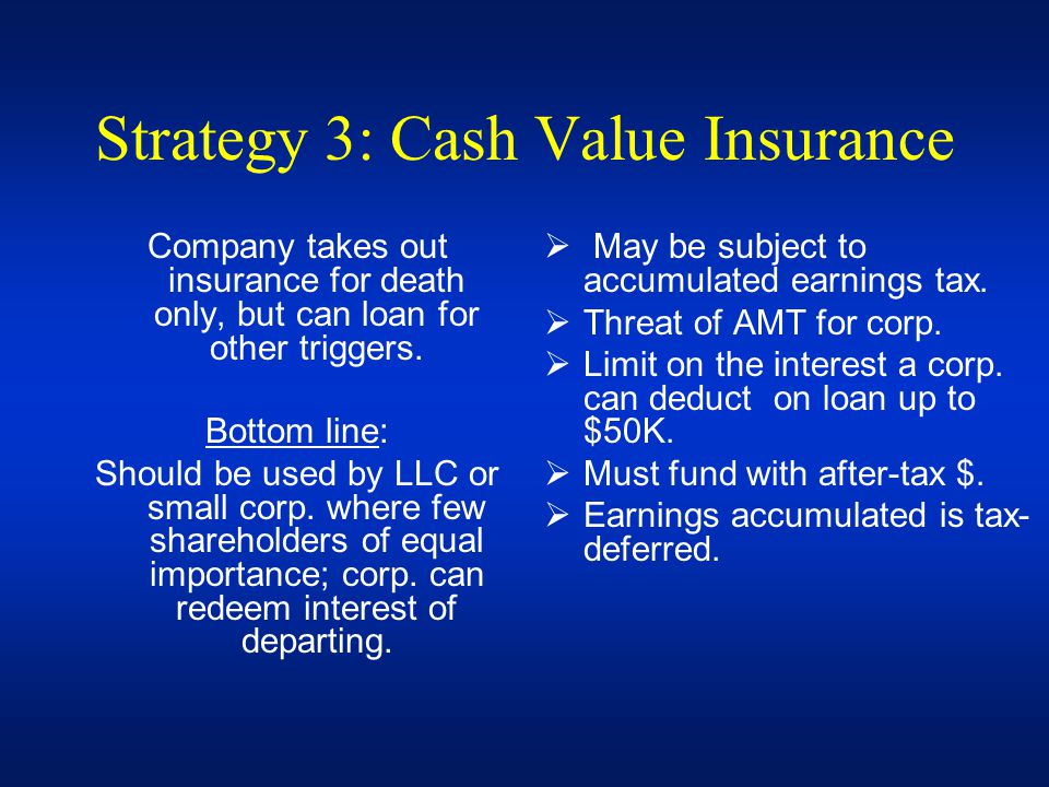 Strategy 3: Cash Value Insurance
