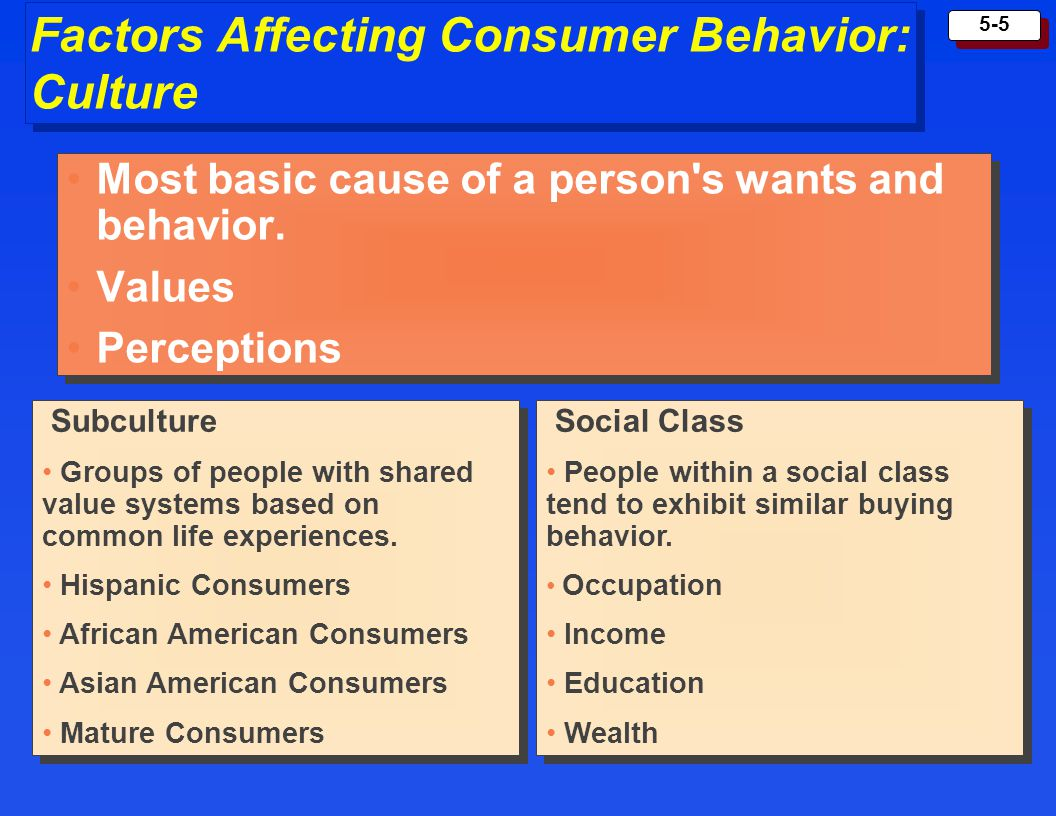 Factors Affecting Consumer Behavior: Culture