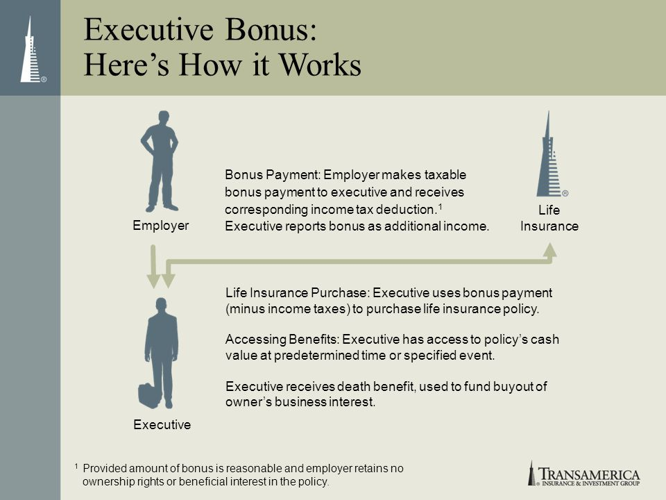 Executive Bonus: Here's How it Works