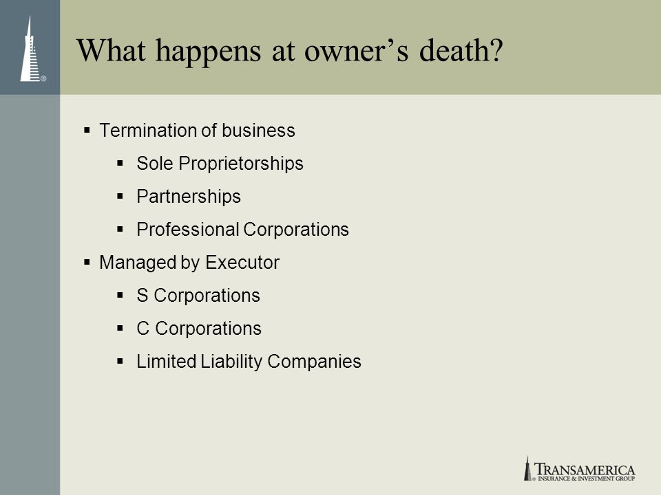 What happens at owner's death