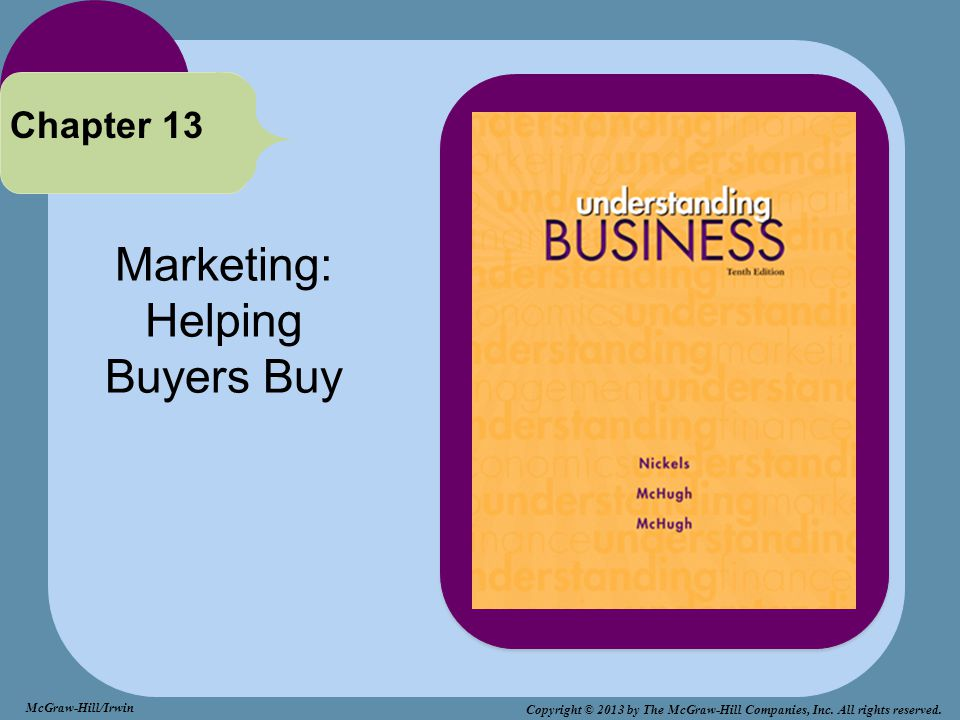 Marketing: Helping Buyers Buy