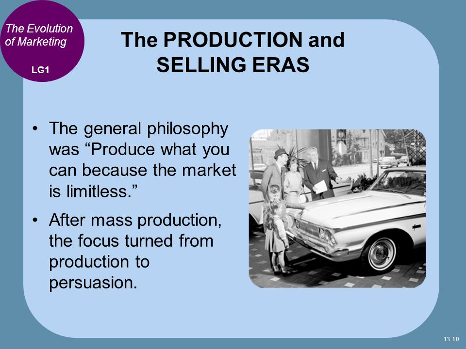 The PRODUCTION and SELLING ERAS