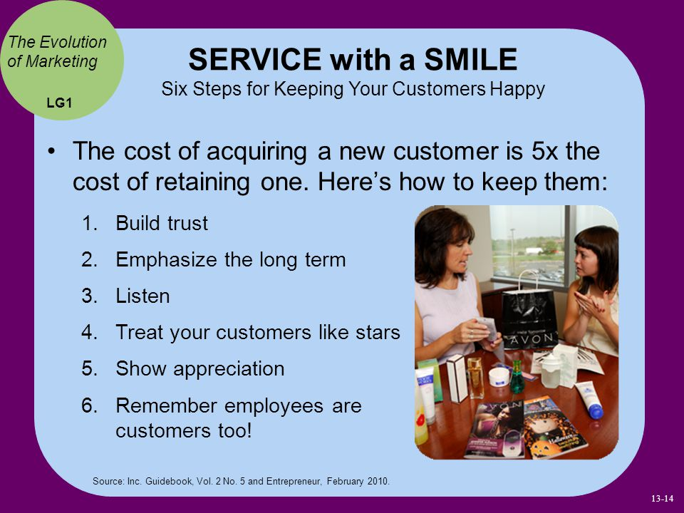 SERVICE with a SMILE Six Steps for Keeping Your Customers Happy