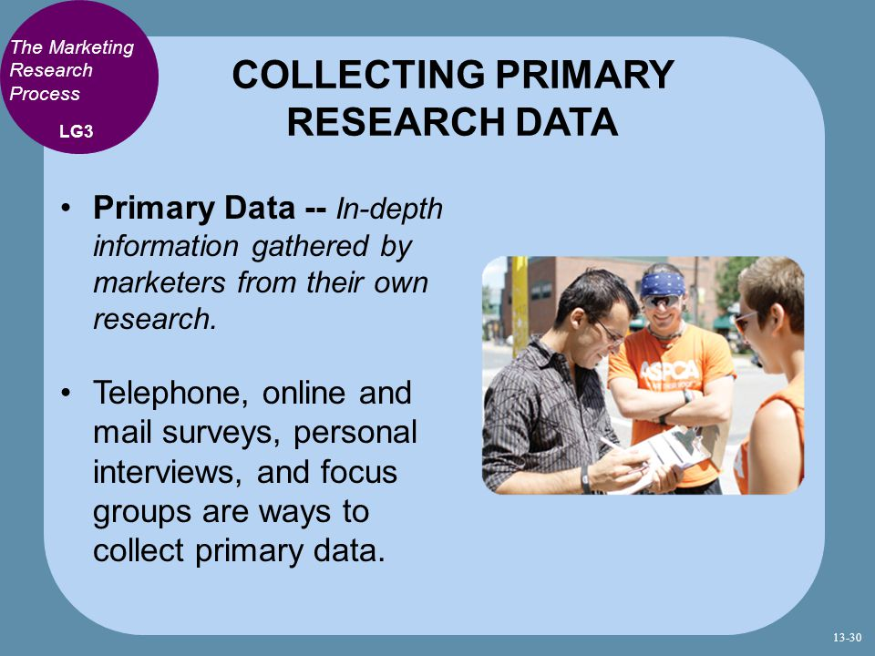 COLLECTING PRIMARY RESEARCH DATA