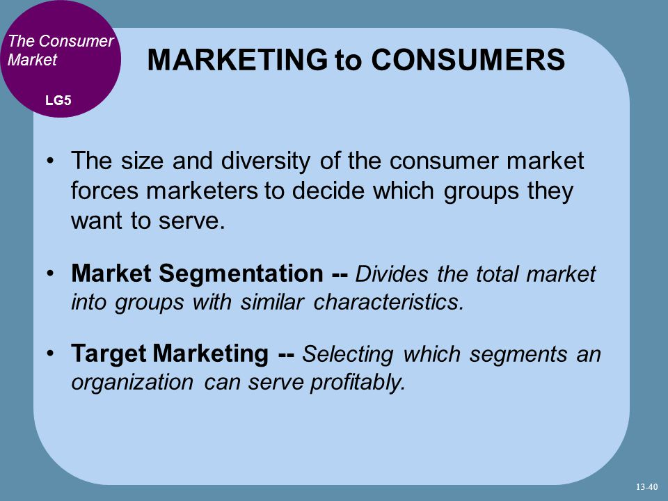 MARKETING to CONSUMERS