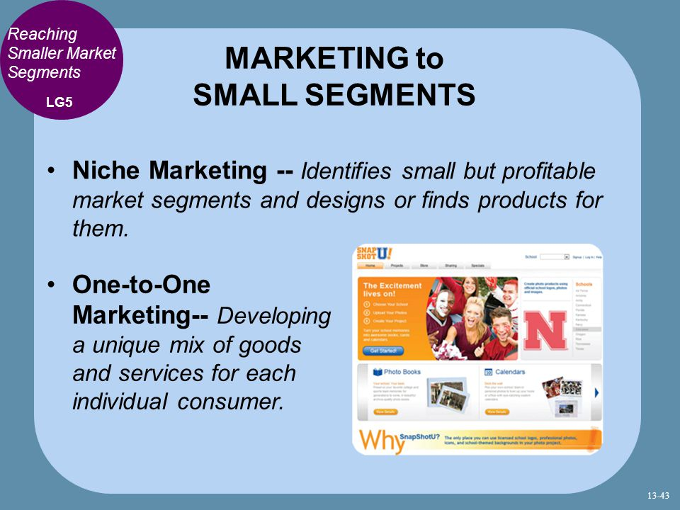 MARKETING to SMALL SEGMENTS