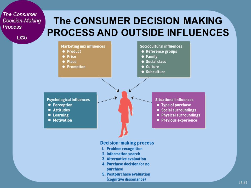 The CONSUMER DECISION MAKING PROCESS AND OUTSIDE INFLUENCES