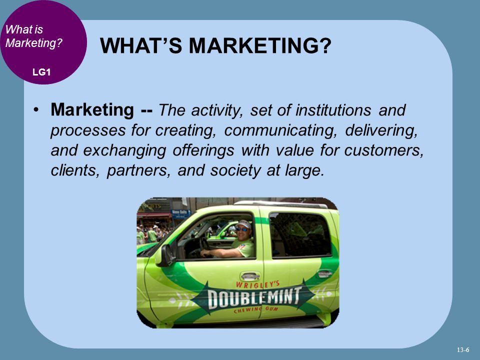 WHAT'S MARKETING What is Marketing LG1.