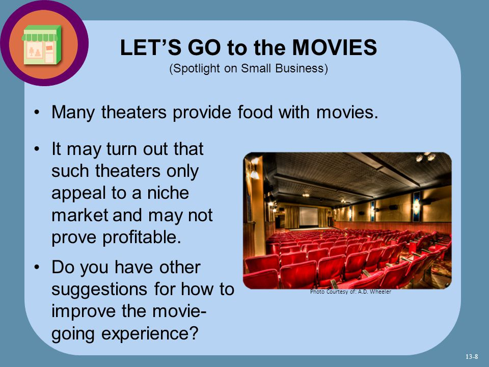 LET'S GO to the MOVIES (Spotlight on Small Business)