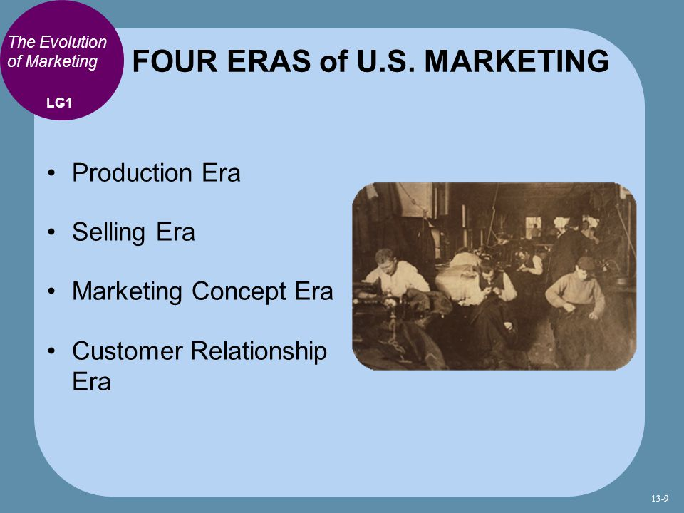 FOUR ERAS of U.S. MARKETING