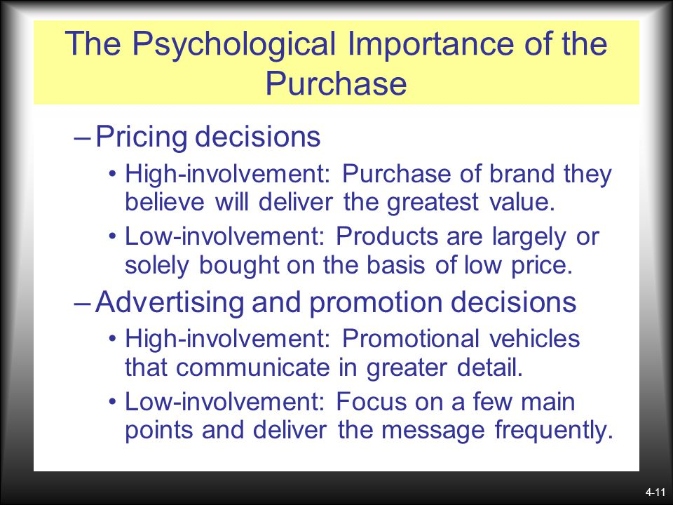 The Psychological Importance of the Purchase