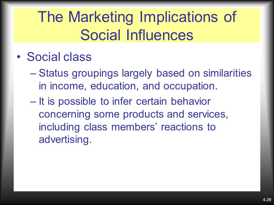 The Marketing Implications of Social Influences