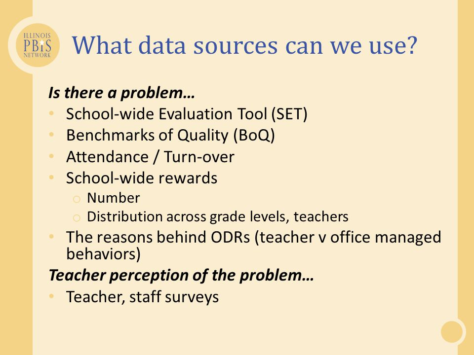 What data sources can we use