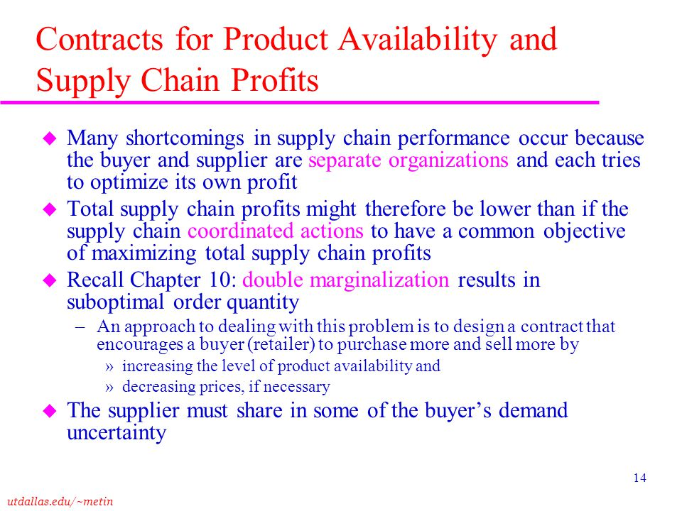 Contracts for Product Availability and Supply Chain Profits