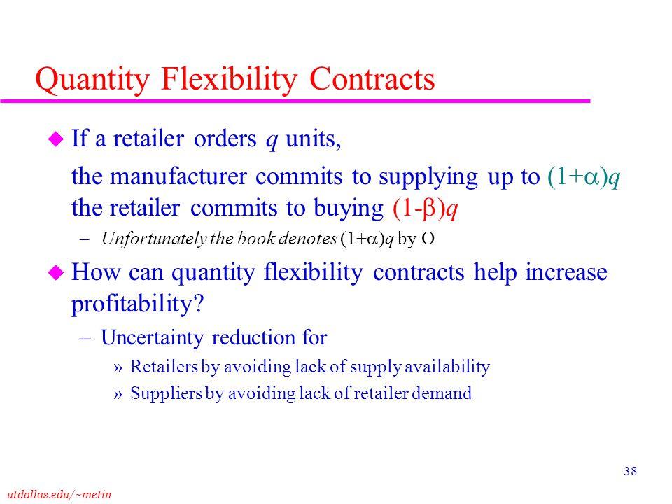 Quantity Flexibility Contracts